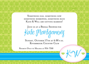 Product Image For Spring Sash Invitation