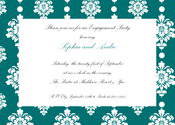 Product Image For Teal Filigree Invitation