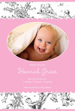 Product Image For Toile Girl Arrival Digital Photo Announcement