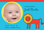Product Image For He's a Little Lion Digital Photo Announcement