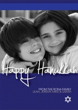 Product Image For Hanukka Star Photo Card