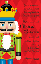 Product Image For Nutcracker on Red Harlequin Digital Invitation