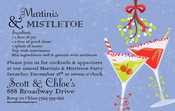 Product Image For Martinis and Mistletoe Invitation