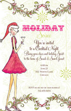 Product Image For Holly Holiday Invitation