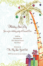 Product Image For Holiday Palm Invitation
