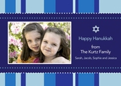 Product Image For Hanukkah Stripes Photo Card