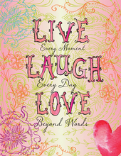 Product Image For Live Laugh Love Note Card
