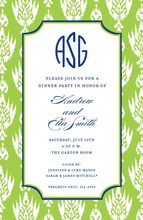 Product Image For Avocado Ikat Invitation