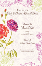 Product Image For Spring Flowers Invitation