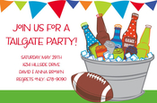 Product Image For Tailgate Tub Invitation