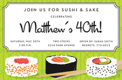 Product Image For Sushi Invitation