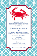 Product Image For Preppy Crab Invitation