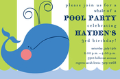 Product Image For Blue Whale Party Invitation