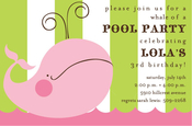 Product Image For Pink Whale Party Invitation