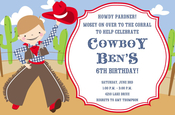 Product Image For Howdy Boy Invitation