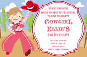 Product Image For Howdy Girl Invitation