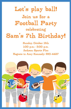 Product Image For Football Boys Invitation