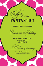 Product Image For Pink Jots Invitation