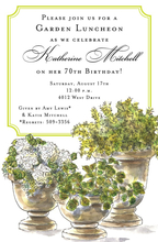 Product Image For Potted Plants Invitation