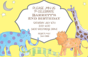 Product Image For Magical Safari Invitation