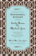 Product Image For Mocha Trellis Invitation