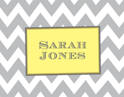 Product Image For Grey Chevron Note Card