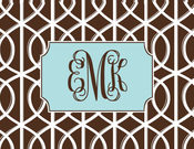 Product Image For Mocha Trellis Note Card