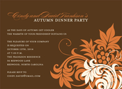 Product Image For Autumn Swirls Invitation