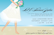 Product Image For Tropical Bride Invitation