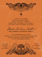 Product Image For Spidery Skull Flame Invitation