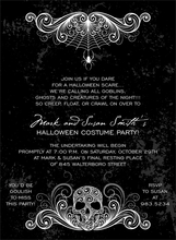Product Image For Spidery Skull Black Invitation