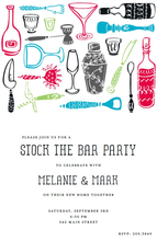 Product Image For Bar Tools Invitation