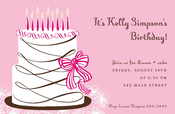 Product Image For Pink Cake Invitation