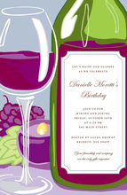 Product Image For Wine Gleam Invitation