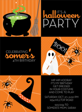 Product Image For Halloween Squares Invitation