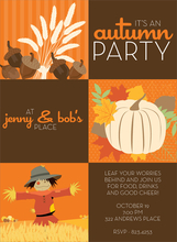 Product Image For Autumn Squares Invitation
