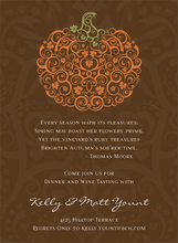 Product Image For Filigree Pumpkin Chocolate Invitation