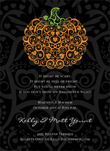 Product Image For Filigree Pumpkin Black Invitation