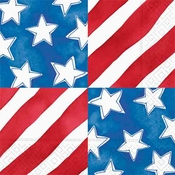 Product Image For Stars and Stripes Luncheon Napkins