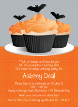 Product Image For Halloween Cupcakes Invitation