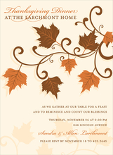 Product Image For Leaves & Swirls Invitation