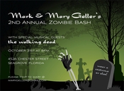 Product Image For Zombie Party Invitation