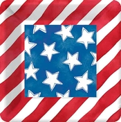 Product Image For Stars and Stripes Dessert Plates