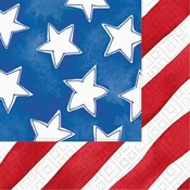 Product Image For Stars and Stripes Beverage Napkin