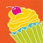 Product Image For Cupcake Crazy Beverage Napkin