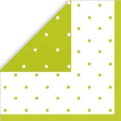 Product Image For Swiss Dots -Lime Green Beverage Napkin