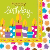 Product Image For Birthday Surprise Beverage Napkin