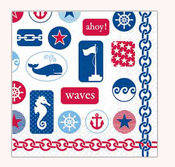 Product Image For Anchors Away Beverage Napkin