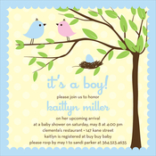 Product Image For Bird Tree Egg Boy Invitation