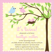 Product Image For Bird Tree Egg Girl Invitation